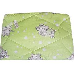Папитто. Одеяло детское стеганое полушерстяное, 110х140 см  салатовый вид 10