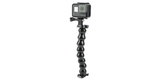 Гибкое шарнирное крепление GoPro Gooseneck (ACMFN-001) вид спереди с камерой