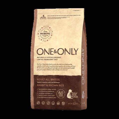 One&Only Rabbit & Rice Adult All Breeds Сухой корм для взрослых собак всех пород Кролик с рисом низкозерновой
