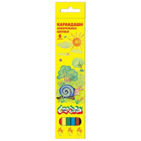 Карандаши акварельные Каляка-Маляка, 6 цветов, КАКМ6