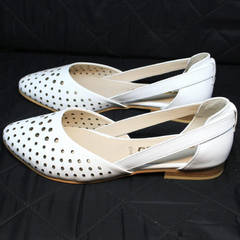 Босоножки балетки женские Evromoda 286.85 Summer White.