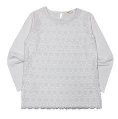 Трикотажная блуза с длинным рукавом