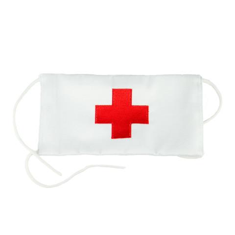 Повязка на рукав белая Красный крест (санитарная)