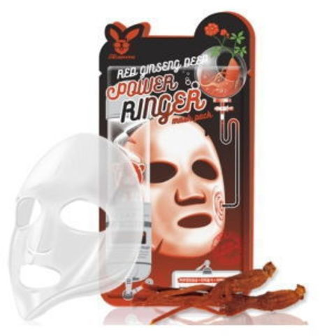 Тканевая маска для лица КРАСНЫЙ ЖЕНЬШЕНЬ Red gInseng Deep Power Ringer Mask Pack, Elizavecca