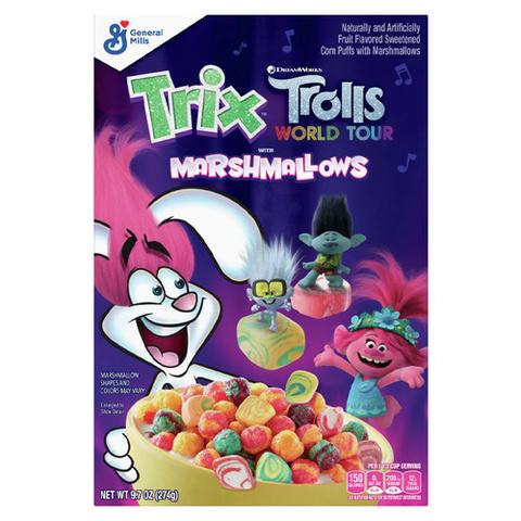 Готовый завтрак Trix Trolls marshmallows 274 гр
