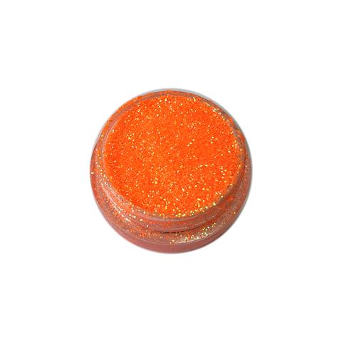 Блестки 3 гр+ баночка неон оранжевые