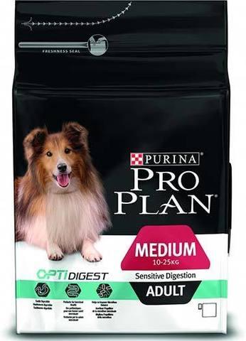 18 кг.PURINA PRO PLAN Сухой корм для взрослых собак с чувствительным пищеварением с ягненком и рисом Medium Adult Sensitive Digestion Opti Digest
