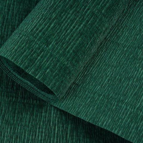 Гофрированная бумага однотонная. Цвет 561 темно-зеленый, 180 г