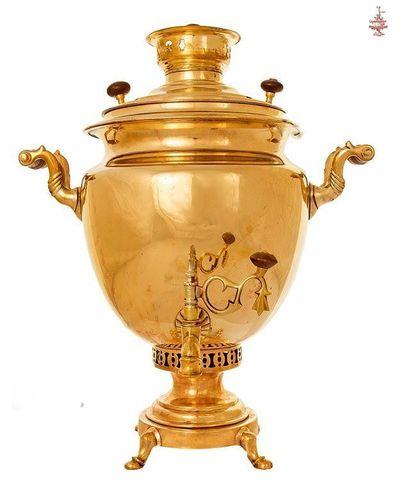 Самовар Чашей грани 6 л медальный латунь угольный