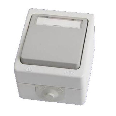 Кнопка звонковая с полем для надписи IP54 6A