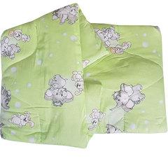 Папитто. Одеяло детское стеганое полушерстяное, 110х140 см  салатовый вид 11