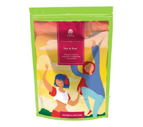 Чайный напиток ягодный/Время взбодриться/Tea&Feel Сибирский кедр 60 г