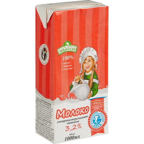 Молоко Молти ультрапастеризованное 3.2% 1 л