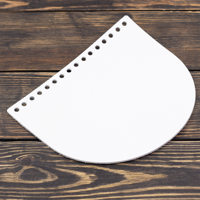 """Вся фурнитура Клапан для сумочки кожаный """"Белый"""" 19*16 см IMG_8039.jpg"""