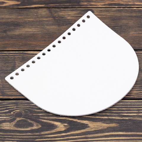 """Клапан для сумочки кожаный """"Белый"""" 19*16 см"""