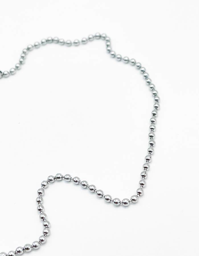 Цепь базовая плетения перлина /silver tone /
