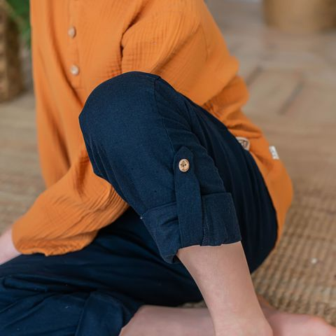 Cotton trousers for teens - Deep Blue