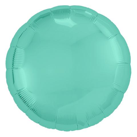 Воздушный шар круг Светло-бирюзовый, 45 см