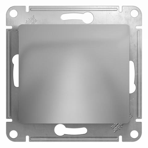Вывод кабеля. Цвет Алюминий. Schneider Electric Glossa. GSL000399