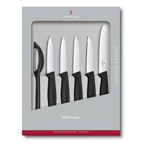 Набор ножей для кухни Victorinox Swiss Classic Kitchen (6.7113.6G) 6шт черный в коробке
