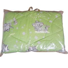 Папитто. Одеяло детское стеганое полушерстяное, 110х140 см  салатовый  вид 12