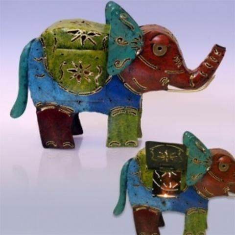 Светильник металлический Слон большой