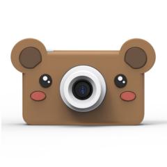 Фотоаппарат детский SmileZoom 24 Мп с чехлом с ушками / Мишка