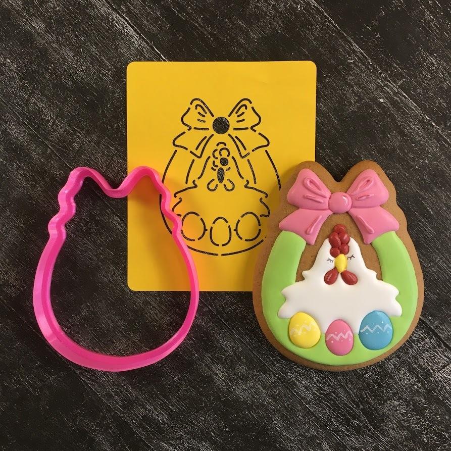 Курочка №9 в корзинке с яйцами