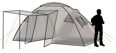 Палатка Canadian Camper SANA 4 PLUS, цвет forest, схема 2.