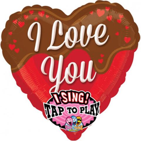 Музыкальный шар Сердце I love you