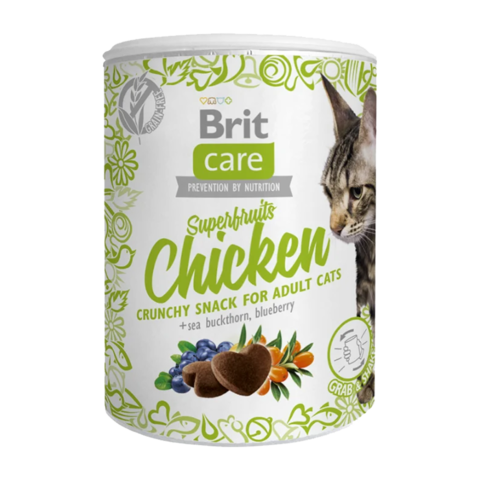 Brit Care Superfruits Chicken Лакомство для кошек суперфрутс с курицей