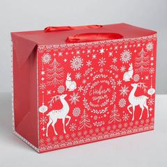 Пакет—коробка «Волшебство праздника», 28*20*13см.