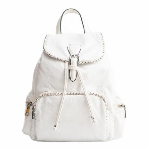 Рюкзак белый с металлической фурнитурой