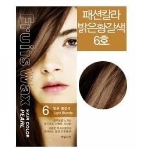 Краска для волос Краска для волос на фруктовой основе WELCOS  Fruits Wax Pearl Hair Color #06 60мл*60гр 500x500.1215cb4d30c7685c.jpg