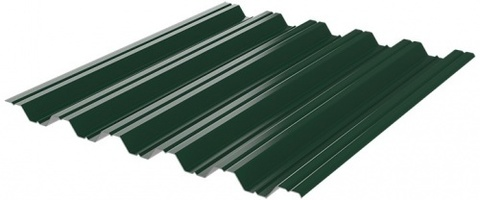 Профнастил НC35x1060 мм RAL 6005 зеленый