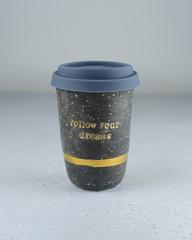 Керамический термостакан для кофе с надписью Follow your dreams, 300-350 мл, Россия
