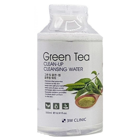 Очищающая вода 3W Clinic с экстрактом зеленого чая 500 мл