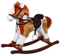 Jolly Ride Качалка меховая Лошадка (YR613)