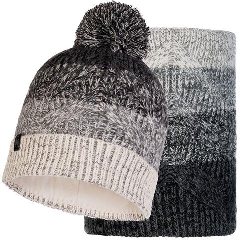 Комплект вязаный шапка-шарф Buff Knitted Polar Masha Grey фото 2