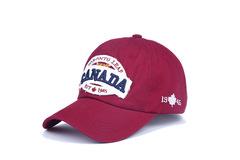 Бейсболка Canada Toronto 1945, с вышивкой (Кепка Канада Торонто) бордовая