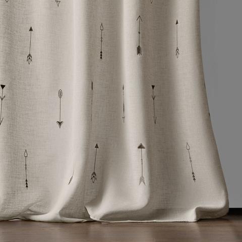 Комплект штор Стрелки с вышивкой серо-бежевый