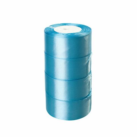 Лента атласная (размер:40мм х 25 ярдов) Цвет: светло-голубой