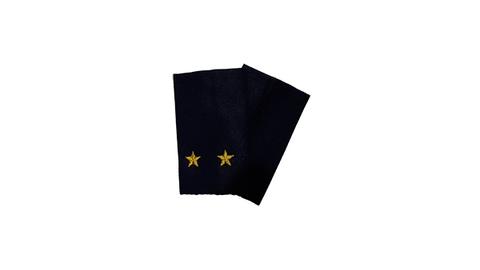 Фальшпогоны синие вышитые лейтенант (ГИБДД)