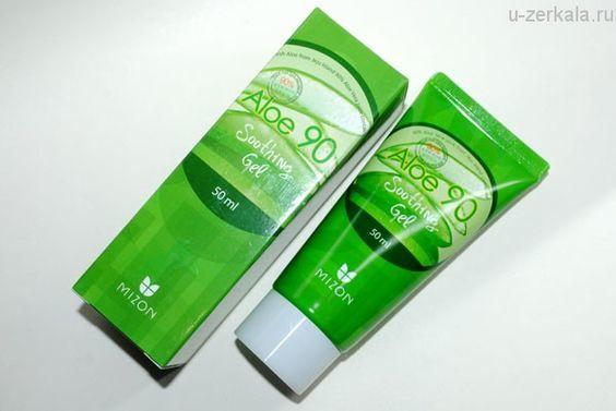 Гель - крем с соком алоэ (90%)  |Mizon aloe 90 soothing gel (200ml)