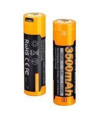 Аккумулятор 18650 LI-ION Fenix 3.6V, 3500mAh + micro USB port