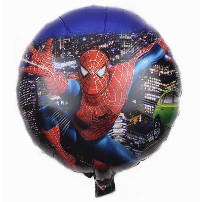 Фольгированный шар круг ,Человек паук, 46 см