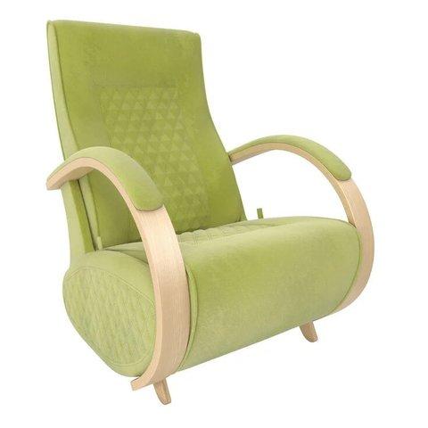Кресло-глайдер Balance Balance-3 с накладками, натуральное дерево/Verona Apple Green, 014.003