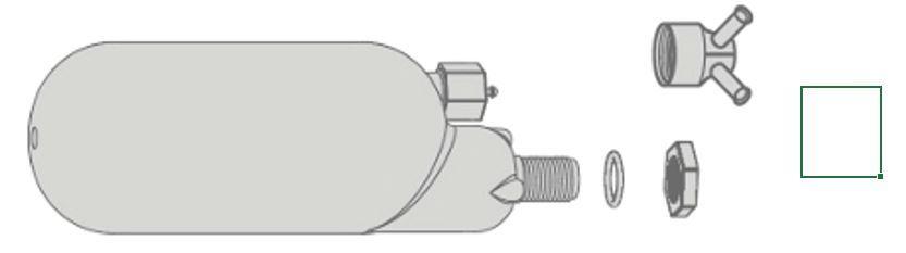 Камера нагнетания давления для ранцевого опрыскивателя UNIQA арт. 3026N DiMartino
