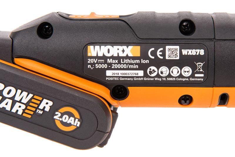 Реноватор аккумуляторный WORX WX678, 20В, 1*2,0Ач, ЗУ, кейс