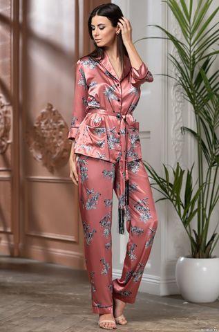 Атласная пижама-тройка на пуговицах Mia Amore Саванна